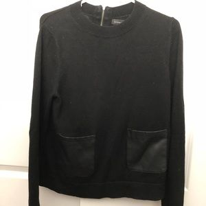 Banana Republic sweater with faux leather pockets